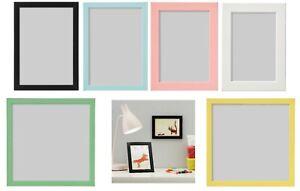 IKEA Fiskbo Photo Frame Picture Document Black Blue White Pink 10x15 13x18 21X21