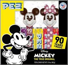 MICKEY & MINNIE MOUSE PEZ SET OF 2 IN BOX CELEBRATING 90TH ANNIVERSARY
