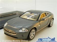 JAGUAR XK XK8 COUPE MODEL CAR SPORTS 1:38 SCALE GREY KINSMART + DISPLAY CASE K8