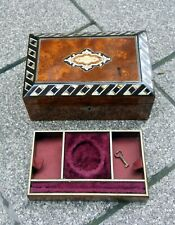 Antique Box for POCKET WATCH, Hand Made Wooden, Mother of Pearl Inlay