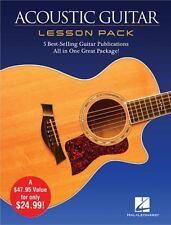 ACOUSTIC GUITAR LESSON PACK - HAL LEONARD PUBLISHING CORPORATION (COR) - NEW BOO