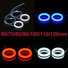 Pair Car Truck Motorcycle Halo Angle Eyes Light LED Fog Headlight Rings 60-120MM