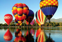 1000 Pieces Adult Puzzle Set Hot Air Balloons Reflection Jigsaw Difficult Puzzle