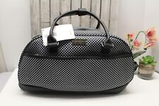 """Jessica Simpson Luggage 20"""" Rolling Duffel Bag Black and white gingham NWT"""