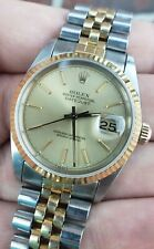 Rolex DateJust 36mm 16233 18K Two-Tone Gold Stainless Champagne Jubilee Watch