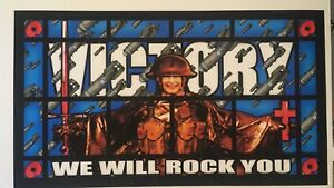 James Cauty KLF Victory , We Will Rock You, Royal Limited Edition Print