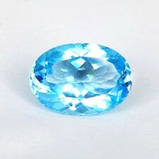 TOP TOPAZ  : 14,26 Ct Natürlicher Blau Topas aus Brasilien