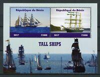 Benin 2017 MNH Tall Ships Sail Sailing Boats 2v M/S Nautical Stamps
