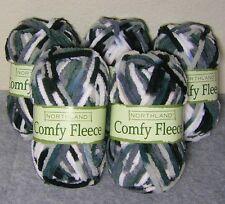 Lot of 5 Balls!! :  Northland Comfy Fleece Yarn /Super Bulky Soft ~ Glacier