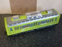VINTAGE ICHIKO TINPLATE FRICTION DRIVE TRAIN GREEN & SILVER MADE IN JAPAN VGC