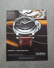 H541 - Advertising Pubblicità -2013- PANERAI LUMINOR GMT