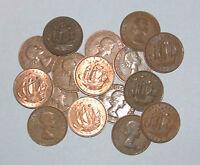 Great Britain/UK 1953 - 1967 - Elizabeth II Bronze Half-Pennies - Select Date
