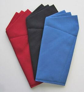 Pocket Square Wing Style -Various Colors Prefolded & Sewn to Just Slip In pocket