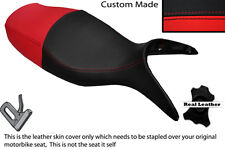 BLACK & RED CUSTOM FITS BMW R 1100 S 98-05 DUAL LEATHER SEAT COVER ONLY