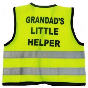 "Hi Visibility Baby Vest Printed GRANDAD'S LITTLE HELPER"" 0-24 Months in 3 Sizes"