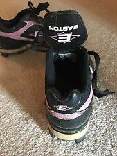 Easton Girls Softball Cleats, Pink Black Size 6.5