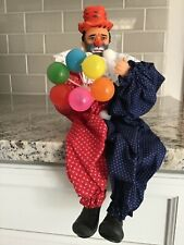 Vintage 13� Shelf Sitting Clown Rare