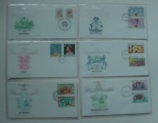 12 Different 1977 The Queen's Silver Jubilee Fdcs - St. Helena, United Kingdom