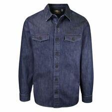 Harley-Davdson Men's Navy Denim L/S Woven Shirt (S41)