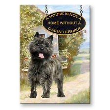 CAIRN TERRIER a House is Not a Home FRIDGE MAGNET No 1