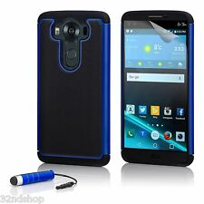 32nd Dual Layer Shockproof Case Cover for LG K4 (2016) Deep Blue