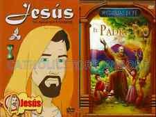 2 PACK El Padre Pio Father Pio Historias De Fe & Jesus Un Reino Sin Fronteras
