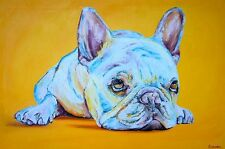 "French Bull Dog Frenchie Print Matted 11""x14"" Limited Edition"