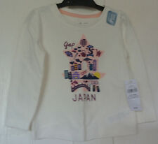 New Gap 100% cotton long sleeve Top Ivory  12-18 months