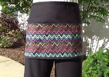 Black Chevron server waitress waist apron 3 pocket restaurant Classyaprons