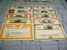 Lot of 100 Stock Certificates& bonds  At least 10 different varieties ORANGE