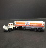 Vintage Majorette Esso Fuel Tanker Tractor Trailer 1:60 France Serie 3000