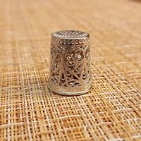 THIMBLE Russian Pattern sterling silver 925 Russia  # 44055083