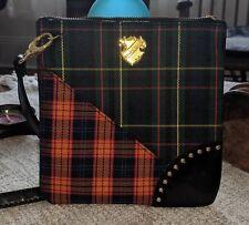 Women MAC Cosmetics purse, pre-owned, small, cross body, plaid