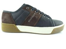Tommy Hilfiger Serfio Men's Sneakers Leather Low Shoes Long Lace Green Size 42