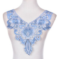Embroidered Floral Lace Venise Neckline Neck Collar Trim Clothes Sewing-Applique