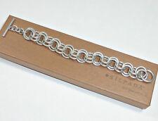Silpada .925 Sterling Silver Leadership Bracelet Heavy Double Link Rep Rare