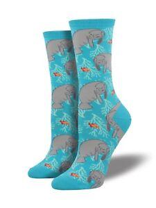 "Socksmith Women's Novelty Crew Socks ""Oh The Hu-Manatee"" / Choose Your Color!"
