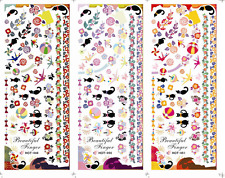 Nail Art Stickers Transfers Decals HOT Series Halloween Black Cats 049-051