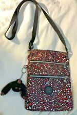 Kipling Red Heart Zipper Purse Cross body Bag Handbag with Monkey GLOBAL SHIP