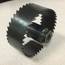 """Trojan 3 1/2"""" Saw Tooth Blade for Sewer Cleaning Machines fits 5/8"""" Cables"""