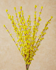 New Spring Easter YELLOW FORSYTHIA Floral Branch Stem Spray