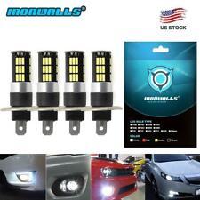 4X H1 100W High Power LED Xenon White Fog Light Bulb Lamp 6000k Car Driving DRL