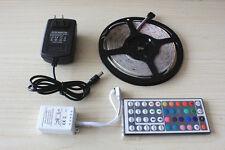 5M RGB 3528 Waterproof LED Strip light 300 & 44 Key Remote &12V 2A Power