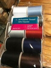 NEW SEWING THREAD, 10 ASSORTED  200 FT PER SPOOL   NEW IN PACK