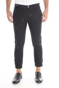 Pantaloni Daniele Alessandrini Jeans Trouser Uomo Nero PJ5306L600 1111
