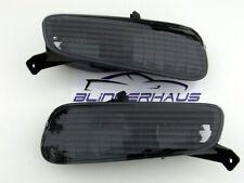 SMOKED Fiat Punto Evo Type 199 Abarth Racing Sport Front Indicators Black