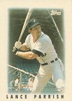 Lance Parrish 1986 Topps League Leader Minis #15 Detroit Tigers Baseball card