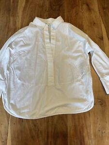 Cos Small Womens Blouse Shirt White With Collar