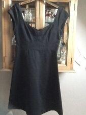 French connection black shortsleeve jersey dress UK 12