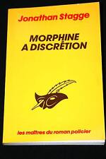 LE MASQUE-MORPHINE A DISCRETION JONATHAN STAGGE